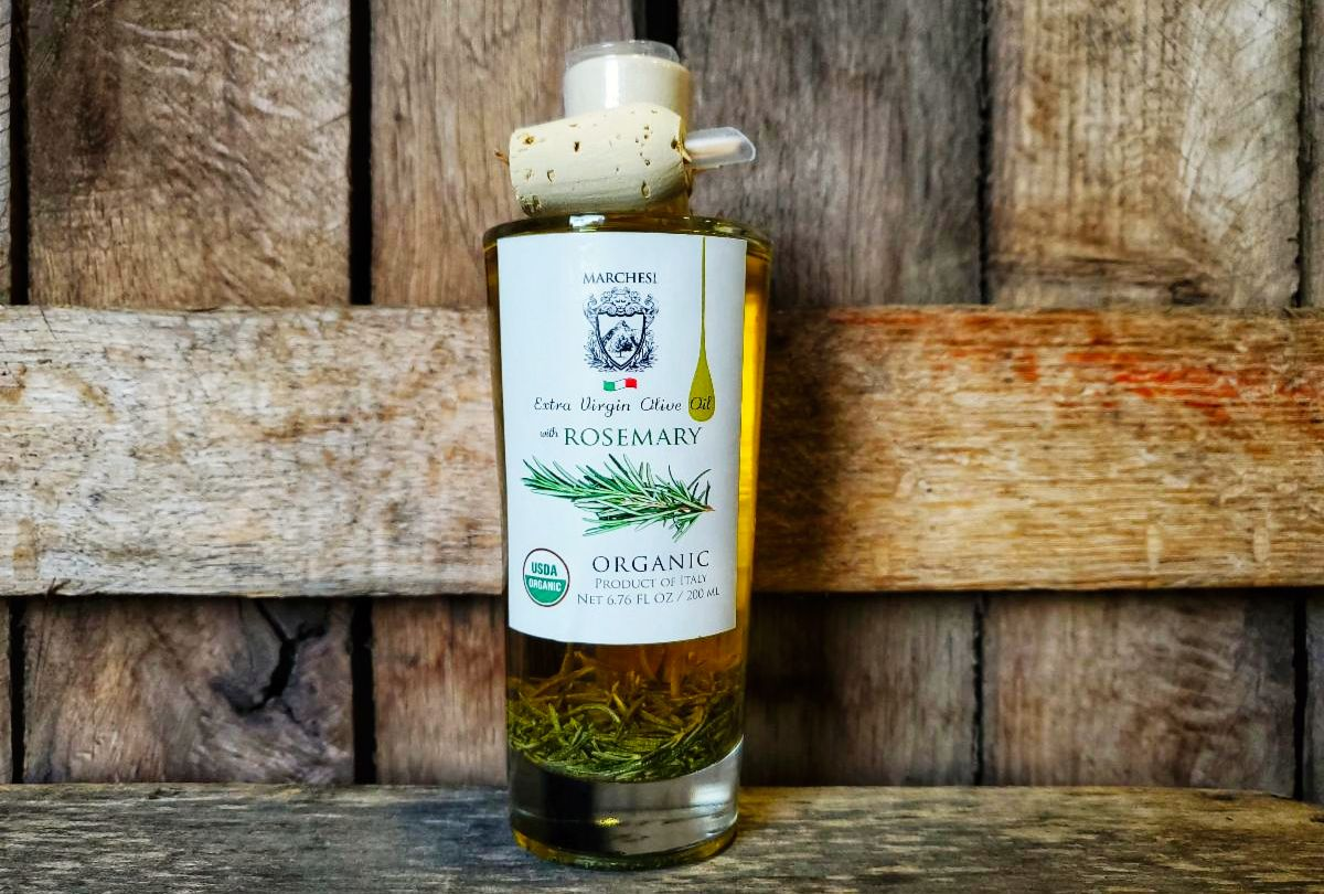 EVOO- Organic Rosemary Infused Extra Virgin Olive Oil 7oz