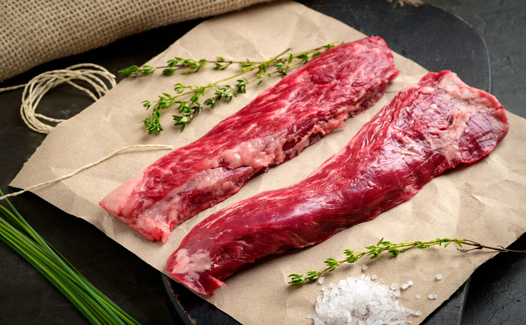 Grass Fed Beef Tenderloin $32.99/lb- .6lb Whole Fillet Mignon