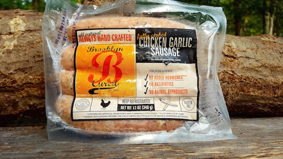 Chicken Garlic Sausage 1lb Package $10.99/lb