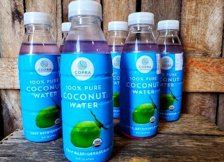 Organic Copra Coconut Water 6 x 16oz Bottles