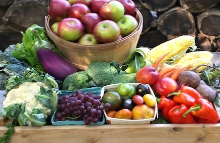 Couples Fruit & Veggie Basket