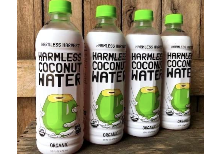 Organic Harmless Harvest Coconut Water 16oz Bottles-12 Pack