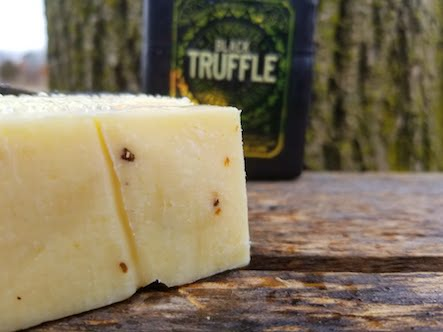 Plymouth Black Truffle Cheddar Cheese
