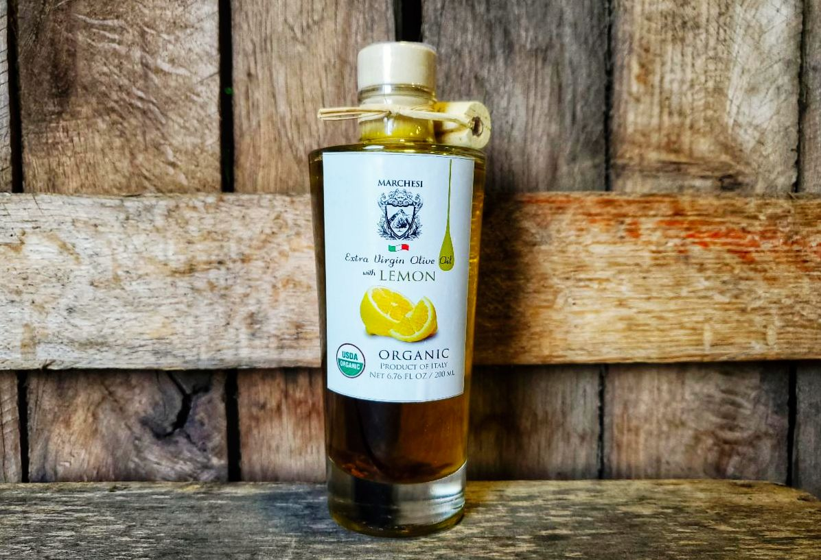 EVOO- Organic Lemon Infused Extra Virgin Olive Oil 7oz