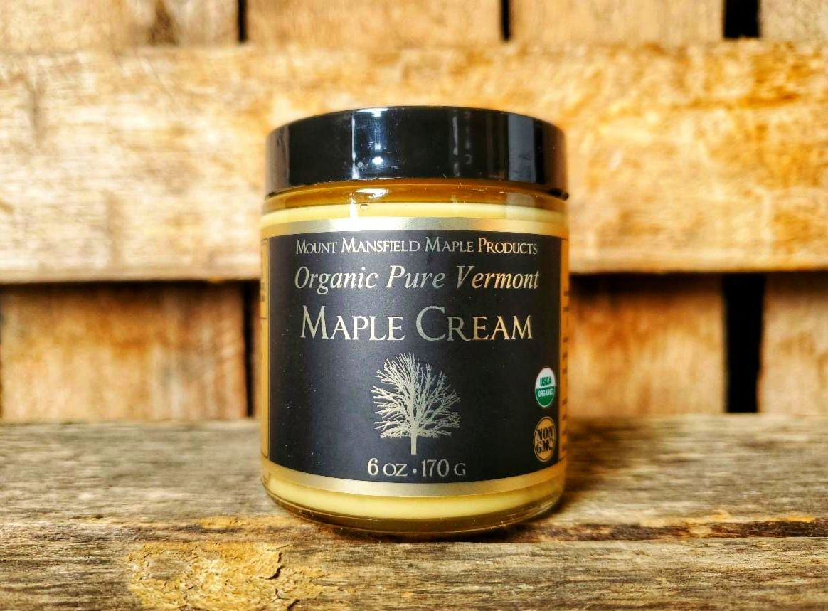 Organic Pure Vermont Maple Cream 6oz Jar