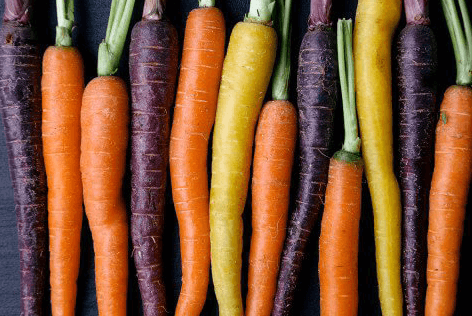 Organic Loose Rainbow Carrots 3lb Bag