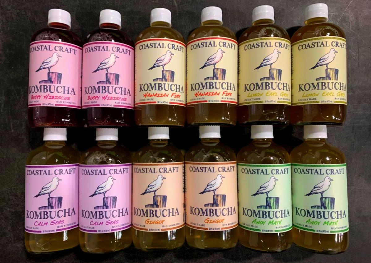 Coastal Craft Kombucha: 12 Pack MIXED FLAVORS