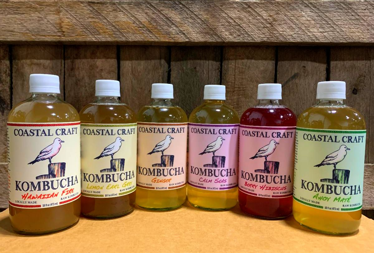 Coastal Craft Kombucha: 6 Pack MIXED FLAVORS