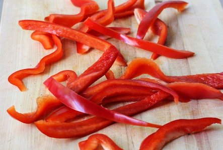 FROZEN Red Pepper Strips-1.25lb
