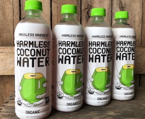 Organic Coconut Water 16oz Bottles: 4 PACK