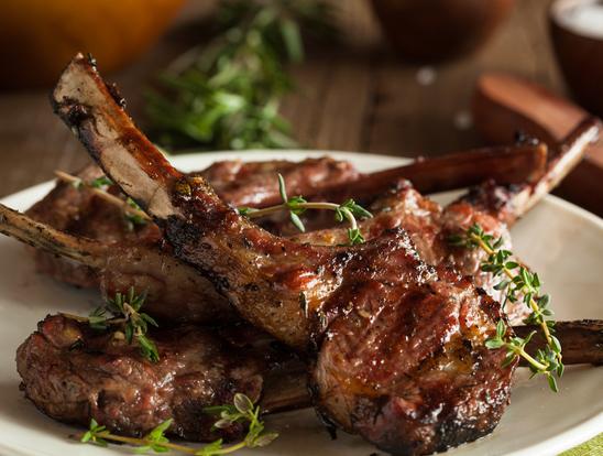 Lamb Rib Chop .6lb Pack $22.99/lb