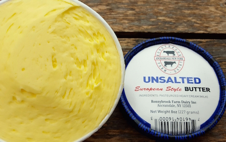 Ronnybrook Butter Unsalted 8oz